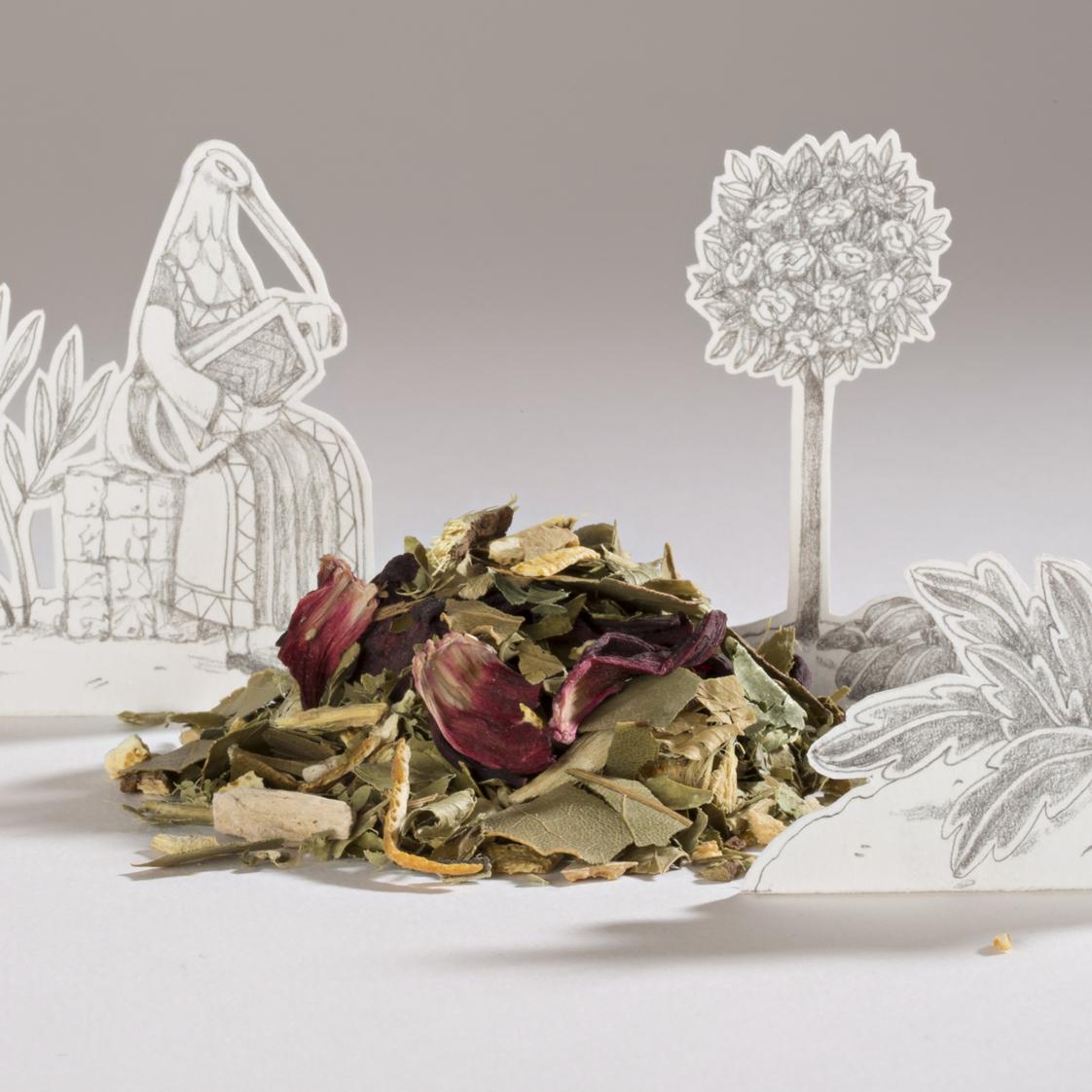 Le jardin arabo-andalou, une infusion créative de la collection Portraits d'oiseaux de Comme des tisanes.Le jardin arabo-andalou, une infusion créative de la collection Jardins & délices de Comme des tisanes.