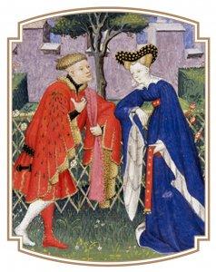 Gravures au début des Cent Balades d'amant et de dame de Christine de Pizan, British Library, Harvey, 4431, fol. 376