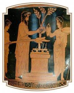 Cratère rendant hommage à Apollon (430 av. J.-C.)