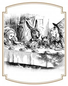 Illustration du thé des fous
